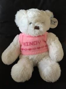 Personalized white cuddle bear