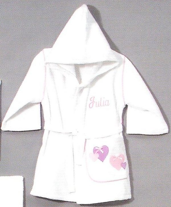Personalized Hooded Robe Hearts