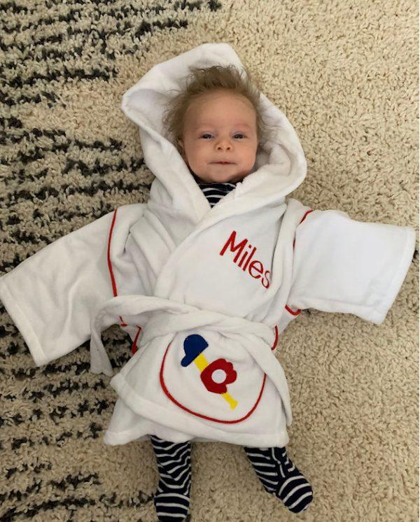 Peronalzed Hooded Robe Sports - Miles